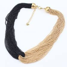handmade necklace designs images Mn185 fashion simple design tassel necklace handmade black gold jpg