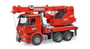 bruder fire truck buy bruder mb arocs crane truck 03670