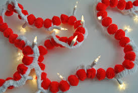 lighted christmas tree garland merry and bright easy crochet pom pom lighted garland sparkles of