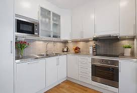 Modern White Kitchen Cabinet Ideas Small Kitchen Decorating Ideas - Contemporary white kitchen cabinets