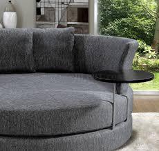 Circular Sofas Living Room Furniture Fabric Modern Adjustable Circular Sofa W End Table