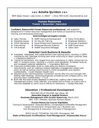 hr resume exles professional resume sles by julie walraven cmrw homework