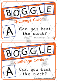 Challenge Dictionary Pet Editable Boggle Challenge Cards Premium Printable