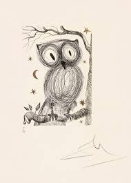 petite chouette little owl u0027 by salvador dali 1968 a real hoot