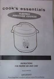 cooks essentials 99700 pressure cooker manual documents