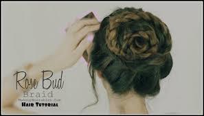 flower hair bun bud flower braid bun updo hairstyles hair tutorial