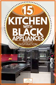 best color kitchen cabinets with black appliances 15 kitchens with black appliances photo inspiration home
