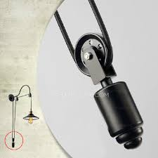 Adjustable Wall Sconce Industrial Lighting Pulley Shaped Adjustable Wall Sconce