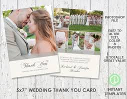 wedding card template thank you card 5 x 7 photoshop template