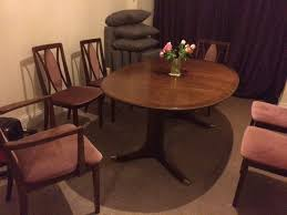 G Plan Dining Room Furniture by Beautiful Dark Wood Gplan Dining Room Table Plus 6 Chairs In