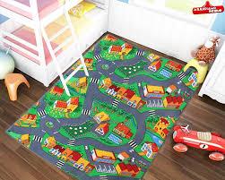 tappeti in gomma per bambini tappeto gioco per bambini pista macchinine 3 misure disponibili