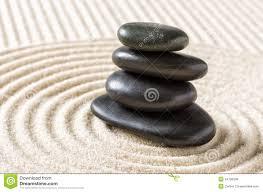 zen garden with stacked stones stock photo image 56123248