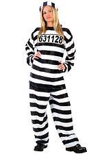 Convict Halloween Costumes Women U0027s Convict Prisoner Inmate Costumes Ebay