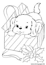 pup coming christmas gift puppy coloring pages