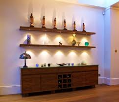 bathroom engaging led strip floating shelf furniture lighting