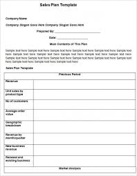 sales plan example best photos of action plan template word