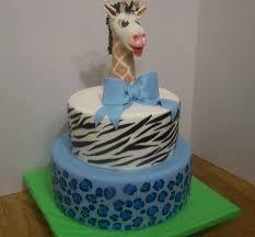 safari print baby shower cake with giraffe topper cakecentral com
