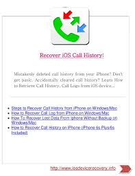 Iphone Help Desk by I Os Help Desk A Guide To Recover Deleted Ios Data
