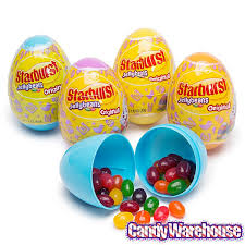 filled easter eggs starburst jelly beans filled plastic easter eggs 12 display