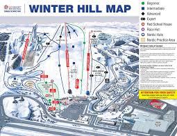 Calgary Alberta Canada Map by Canada Olympic Park Calgary Trail Map U2022 Piste Map U2022 Panoramic