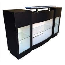 Reception Desk With Glass Display Salon Furniture Reception Desk Model Rd 352