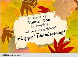 a thanksgiving thank u note free thank you ecards greeting
