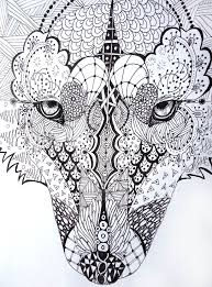 wolf face coloring page 229 best coloring pages images on pinterest drawings mandalas