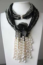 fashion black pearl necklace images Grey black crystal and white freshwater pearl necklace white jpg