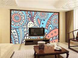 chambre style ethnique coutume traditionnelle style ethnique broderie motif de papier peint