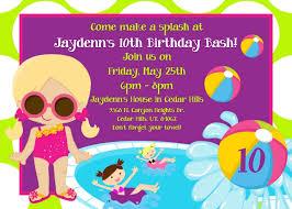 pool party birthday invitations pool party invitations printable