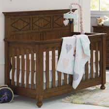 Baby Convertible Cribs Furniture Bassett Furniture Brookdale Convertible Crib Rustic Brownstone