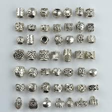silver beaded charm bracelet images Mix wholesale 98pcs 49 style metal vintage tibetan silver beads jpg