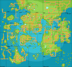 Regions World Map by Pokemon World Map Album On Imgur