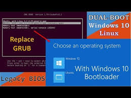 install windows 10 bootloader replace grub with windows 10 bootloader on dualboot youtube
