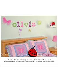 Wall Decal Letters For Nursery Wall Letters Baby Nursery Decal Stickers Ladybug