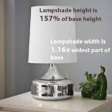 what size lampshade you need for your diy lighting project i