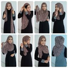 tutorial hijab persegi berkacamata 12 best hijab tutorials images on pinterest head scarfs hijab