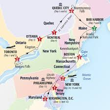 map of eastern usa and canada map of eastern canada with cities major tourist