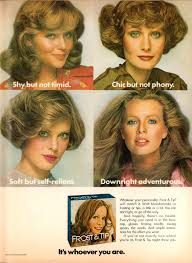 opposite frosting hair kit frosted sprayed and feathered 20 hair product ads from the 1970s