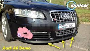 audi s6 review top gear bumper lip for audi a6 s6 rs6 2004 2015 top gear shop