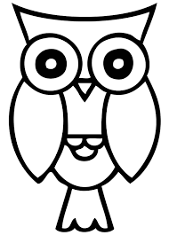 halloween owl black and white clipart collection