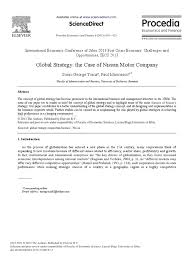 nissan finance motor corp global strategy at nissan nissan strategic management