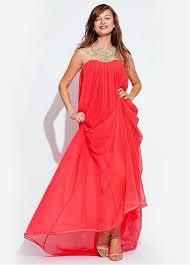 designer kleider 49 besten prom formal coral orange dresses bilder auf