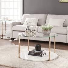 wayfair white coffee table round white coffee tables you ll love wayfair