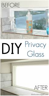 Best Replacement Windows For Your Home Inspiration Diy Privacy Glass Effect That Is Absolutely Amazing And I U0027m All