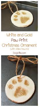 white and gold paw print ornament recipe