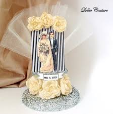 deco cake topper deco wedding paper cake topper wedding cake topper gatsby wed