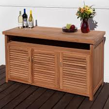 Kitchen Sideboards And Buffets Teak Outdoor Buffet With Storage Outdoor