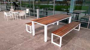 Buy A Custom Made Reclaiemd Brazilian Ipe And Steel Patio Table - Ipe outdoor furniture