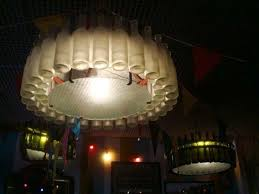 Lamps Made From Bottles Every Lamp In Buenos Aires Restaurant Made With Recycled Wine